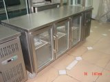 Refrigerador Snack Bar Pizza Preparation Counter com tampas de vidro (GN3100TNC)
