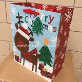 Saco de papel impresso colorido do Natal para o Tag de suspensão do presente