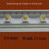 PU Coin corniche décorative de moulures en couronne pour l'intérieur / extérieur