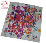 スクリーン印刷の花のカスタム絹のショール