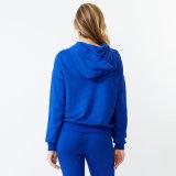 Оптовая торговля Логотип женщин моды синий йога худи с Pocket