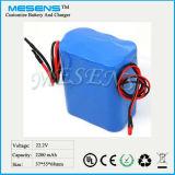24V/22.2V 2200mAh nachladbare Li-Ionbatterie