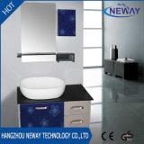 高品質のステンレス鋼のコーナーの浴室の洗面器のキャビネット