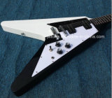 Guitare électrique du vol V populaire de modèle de Yinyang Taiji que toute la couleur reçoivent