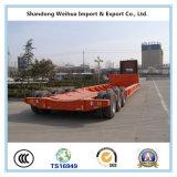 Fuwa Marke Tri-Welle 60 Tonnen ausdehnbare niedrige Bett-halb Schlussteil-