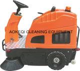 Conduite rapide de machine de matériel commercial de nettoyage sur la balayeuse