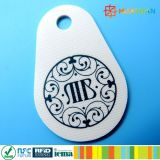 Fibra de vidrio clásica Keyfob de la pera MIFARE 1K RFID de la impresión de la insignia