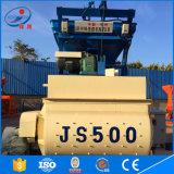 Mezclador concreto gemelo de la fuente Js500 de la fábrica de los ejes
