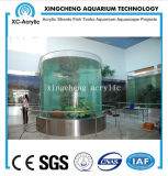 Material acrílico preço acrílico curvado personalizado do projeto do aquário da folha