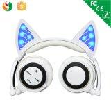 Lumière LED Cat écouteurs auriculaires stéréo Bluetoth casque sans fil
