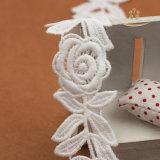 Шнурок нейлона хлопка ткани шнурка платья венчания цветка Rose