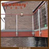 De vierkante Balustrade van het Roestvrij staal met Dia 12mm Traliewerk van de Pijp (sj-H1128)