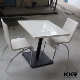 Square 2 Seaters superficie sólida Piedra comedor de mesa