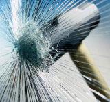 Fondo negro de la ventana de la membrana de tintado Safety & Security Film