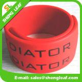 Braccialetto di schiaffo del silicone con il Wristband di marchio dell'incisione per l'adulto