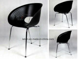 Pilha de plástico colorido Eames Garden Coffee Chair with Armrest (LL-0049)