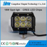 18W 크리 사람 LED 표시등 막대 플러드 반점 off-Road 일 램프