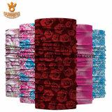クリスマスのスカーフの美しい編むローズの花管状のHeadwear