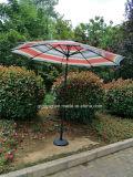 Parasol extérieur de parapluie de manivelle en métal