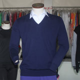 Pullover Kaschmir-Strickjacke-der Qualität gestrickten Strickjacke-Merinomänner