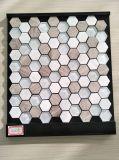 Mosaico di pietra di marmo di cristallo per le mattonelle di esagono