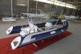 Barco inflável dos reforços da fibra de vidro do Ce com console