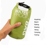Gli sport impermeabilizzano il sacchetto dello zaino del sacchetto asciutto 2L 5L 10L per il kajak della canoa che trasporta la macchina fotografica con una zattera del telefono mobile