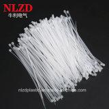 Lazos plásticos del cierre relámpago del nilón 66 de nylon blancos naturales de las ataduras de cables del color