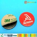 Logotipo personalizado en metal NTAG213 Ronda NFC Adhesivo Tag