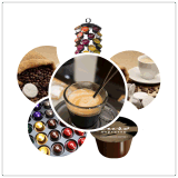 Relleno de la taza de la cápsula del café del entusiasmo de Dolce y máquina automáticos del lacre