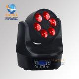 Rasha Hot Sale 4en1 RGBW/abeille RVBA oeil tête mobile LED lumineux avec 6 LED avec éclairage de scène DMX512 Powercon