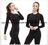 Seling caliente Custom Sports aptitud activa lycra de algodón de compresión de desgaste para la Mujer