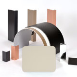 Aluis 외면 3mm 알루미늄 합성 위원회 0.50mm 크림색 Feve 높은 광택나는 것의 알루미늄 피부 간격