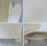 Almofadas de esfrega de limpeza do banho Oval-Shaped do linho que Exfoliating almofadas do Loofah