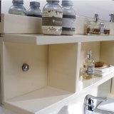Vanité sanitaire moderne fixée au sol de salle de bains d'articles en bois solide de type