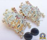 연약한 사기질 금에 의하여 도금된 아연은 주물 접어젖힌 옷깃 Pin를 정지한다