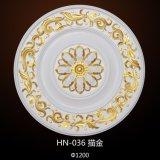 PU Médaillons de plafond décoratif/roses pour l'intérieur décoration maison HN-036
