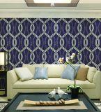 Papier peint lavable de la salle de séjour 3D de PVC de qualité pour la décoration de mur intérieur