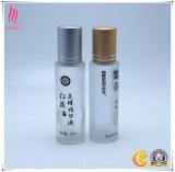 Rolo 15ml portátil geado impresso logotipo da venda da fábrica mini no frasco para o empacotamento cosmético do perfume