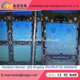 Exposition de location extérieure d'étape de l'écran 640mm*640mm HD de l'Afficheur LED P10