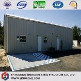 Almacén de almacenaje ligero prefabricado del marco de acero con el panel incombustible