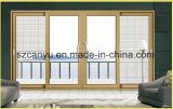 Раздвижная дверь горячего сбывания 2017 алюминиевая деревянная составная