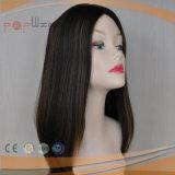 최고 판매 Virgin Remy 머리 본래 색깔 백색 피부 상단 기술 유태인 가발