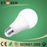 Lampadina Rated superiore 9W 12W di alta luminosità LED con alloggiamento di plastica di alluminio