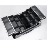 Caixa cosmética da caixa portátil profissional da composição da grande capacidade do trole