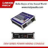 1000W Power Mixer profesional con amplificador Dem1200d