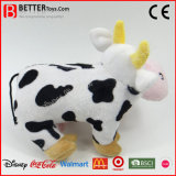 Brinquedo macio da vaca do luxuoso do animal enchido do afago para miúdos/crianças