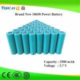 Горячая продавая производственная мощность батареи Li-иона 18650 изготовления 3.7V 2500mAh нового продукта полная