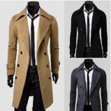サイズのウールの人のコートと合う方法習慣