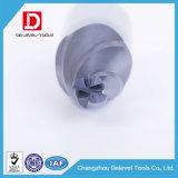 Ferramentas de estaca contínuas do moinho de extremidade do nariz da esfera do atarraxamento do carboneto para o plástico